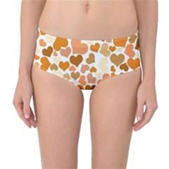 Heart 2014 0903 Mid-Waist Bikini Bottoms