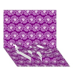 Gerbera Daisy Vector Tile Pattern LOVE Bottom 3D Greeting Card (7x5)