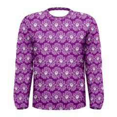 Gerbera Daisy Vector Tile Pattern Men s Long Sleeve T-shirts