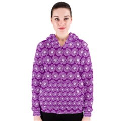 Gerbera Daisy Vector Tile Pattern Women s Zipper Hoodies
