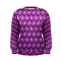 Gerbera Daisy Vector Tile Pattern Women s Sweatshirts