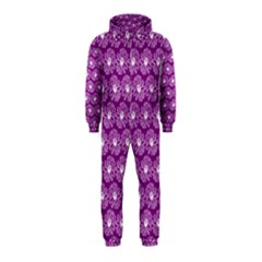 Gerbera Daisy Vector Tile Pattern Hooded Jumpsuit (kids)