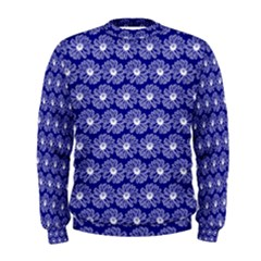 Gerbera Daisy Vector Tile Pattern Men s Sweatshirts
