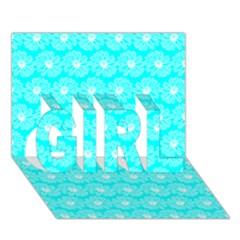 Gerbera Daisy Vector Tile Pattern Girl 3d Greeting Card (7x5)