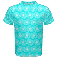Gerbera Daisy Vector Tile Pattern Men s Cotton Tees