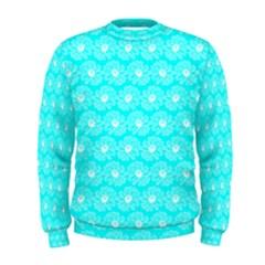 Gerbera Daisy Vector Tile Pattern Men s Sweatshirts