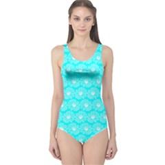 Gerbera Daisy Vector Tile Pattern Women s One Piece Swimsuits
