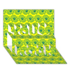 Gerbera Daisy Vector Tile Pattern You Rock 3d Greeting Card (7x5)