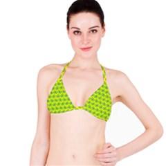 Gerbera Daisy Vector Tile Pattern Bikini Tops