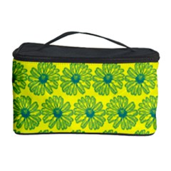 Gerbera Daisy Vector Tile Pattern Cosmetic Storage Cases
