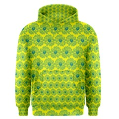 Gerbera Daisy Vector Tile Pattern Men s Pullover Hoodies