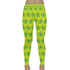 Gerbera Daisy Vector Tile Pattern Yoga Leggings