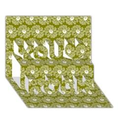 Gerbera Daisy Vector Tile Pattern You Rock 3D Greeting Card (7x5)