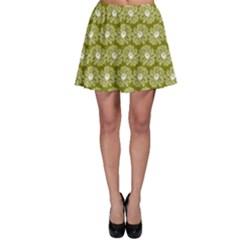 Gerbera Daisy Vector Tile Pattern Skater Skirts