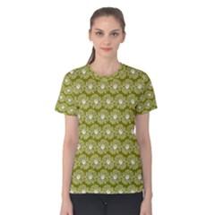 Gerbera Daisy Vector Tile Pattern Women s Cotton Tees