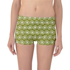 Gerbera Daisy Vector Tile Pattern Reversible Boyleg Bikini Bottoms