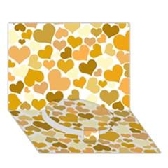 Heart 2014 0904 Circle Bottom 3d Greeting Card (7x5)