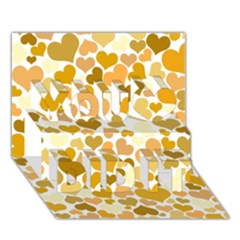 Heart 2014 0904 You Did It 3D Greeting Card (7x5)