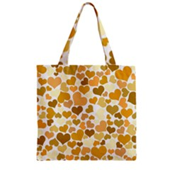 Heart 2014 0904 Zipper Grocery Tote Bags