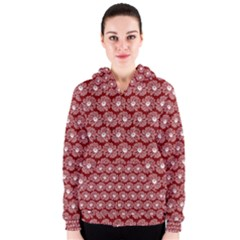 Gerbera Daisy Vector Tile Pattern Women s Zipper Hoodies