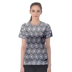 Gerbera Daisy Vector Tile Pattern Women s Sport Mesh Tees