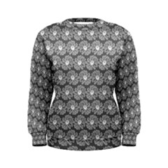Gerbera Daisy Vector Tile Pattern Women s Sweatshirts