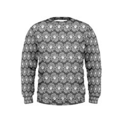Gerbera Daisy Vector Tile Pattern Boys  Sweatshirts