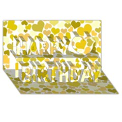 Heart 2014 0905 Happy Birthday 3d Greeting Card (8x4)