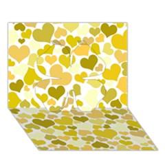Heart 2014 0905 Clover 3D Greeting Card (7x5)