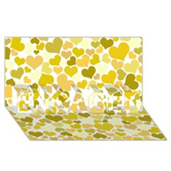 Heart 2014 0905 Engaged 3d Greeting Card (8x4)