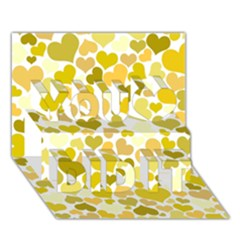 Heart 2014 0905 You Did It 3D Greeting Card (7x5)