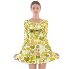 Heart 2014 0905 Long Sleeve Skater Dress
