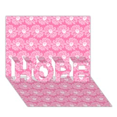 Pink Gerbera Daisy Vector Tile Pattern Hope 3d Greeting Card (7x5)