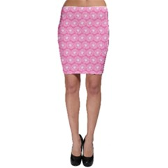 Pink Gerbera Daisy Vector Tile Pattern Bodycon Skirts