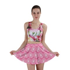 Pink Gerbera Daisy Vector Tile Pattern Mini Skirts