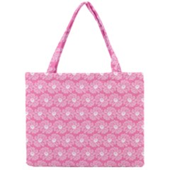 Pink Gerbera Daisy Vector Tile Pattern Tiny Tote Bags
