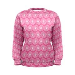 Pink Gerbera Daisy Vector Tile Pattern Women s Sweatshirts