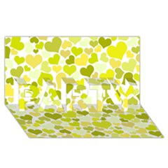 Heart 2014 0906 PARTY 3D Greeting Card (8x4)