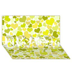 Heart 2014 0906 ENGAGED 3D Greeting Card (8x4)