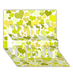 Heart 2014 0906 You Did It 3D Greeting Card (7x5)