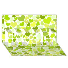 Heart 2014 0907 MOM 3D Greeting Card (8x4)