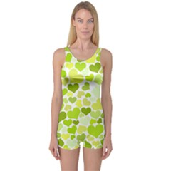 Heart 2014 0907 Women s Boyleg One Piece Swimsuits
