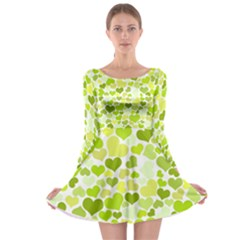 Heart 2014 0907 Long Sleeve Skater Dress