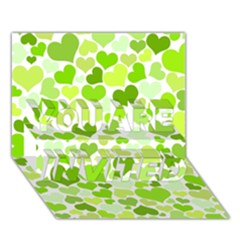 Heart 2014 0908 You Are Invited 3d Greeting Card (7x5)