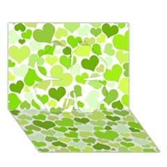 Heart 2014 0908 Clover 3D Greeting Card (7x5)
