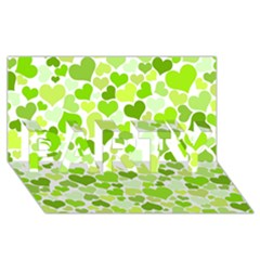 Heart 2014 0908 Party 3d Greeting Card (8x4)