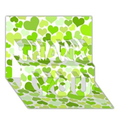 Heart 2014 0908 Thank You 3d Greeting Card (7x5)