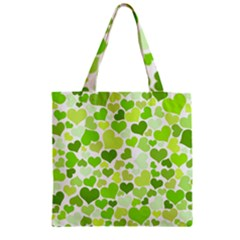 Heart 2014 0908 Zipper Grocery Tote Bags