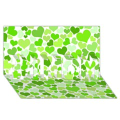 Heart 2014 0909 #1 Mom 3d Greeting Cards (8x4)