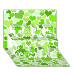 Heart 2014 0909 TAKE CARE 3D Greeting Card (7x5)